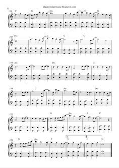 All Of Me John Legend Popular Piano Sheet Music Piano Sheet