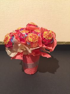 """A lollipop boquet for my moms 60th birthday! Will have a sign saying """"being 60 sucks"""" Part of her 60 presents!"""