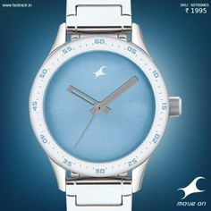 These are blues you'll want to have. Get your #HandsOn one of the new watches from Fastrack! #MonoChrome #Product #Watch #Product #Design #Fastrack