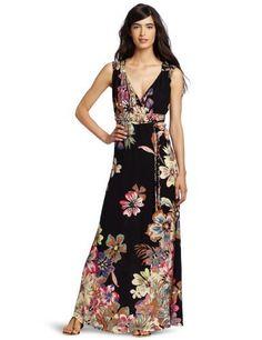 Reviews D.E.P.T. Women's Tropical Maxi Dress, Black, X-Large