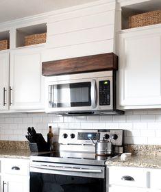 Kitchen Redo, Kitchen Cabinets, Kitchen Ideas, Diy Kitchen Makeover, Kitchen Makeovers, Cabinet Makeover, Kitchen Stuff, Kitchen Storage, Microwave Above Stove