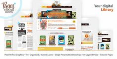 Pages Plus   by nikini  Pages Plus is a the perfect theme for a book library or a publishing agency to showcase their books. Its been studied and designed so that the books look good and attract the visitors. On request we can add book store functionali