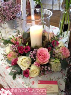 Rose hurricane vase design.