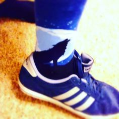 Blue suede shoes and Dope soccs #adidas #socks