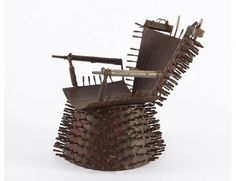 Goncalo Mabunda #Upcycled Weapons of the Mozambique Civil War into Furniture. The furniture itself may not be the best choice for your living room, but we like the idea of #recycling  and #repurposing