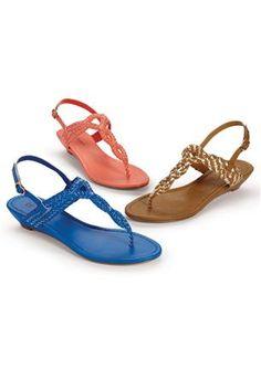a7363aa7a Braided Thong Sandal By Boston Design Studio 2 Inch Heels