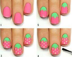 Znalezione obrazy dla zapytania strawberry nails