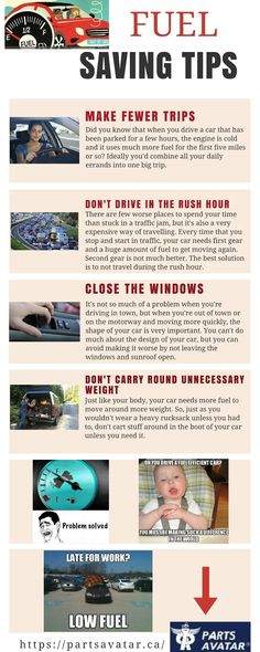 Want more miles per gallon from your car or truck?  The way you drive and the condition of your car has an impact on the amount of fuel you use. Here are a few tips to help you save fuel and money.  this captivating info graphic provides some fuel saving tips so that you can freely use your money for other tasks also!  Apart from fuel saving tips, want to upgrade fuel system auto parts??  To find out more about getting the best possible aftermark