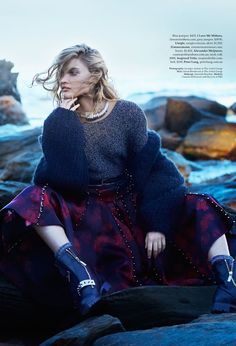 "leahcultice: "" Claudia Wilkinson by Georges Antoni for Elle Australia September 2014 """