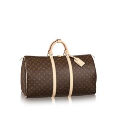 Discover Louis Vuitton Keepall 55  An icon since the appearance in 1930, the Keepall embodies the spirit of modern travel. Light, supple and always ready for immediate departure, the bag lives up to its name: those adept at the art of packing can easily fit a week's wardrobe into the generously sized (and cabin-friendly) Keepall 55. Shown here in classic Monogram Canvas.