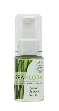 "SeaFlora - Wild Organic Seaweed Skincare: Potent Seaweed Serum.  ""A lightweight serum that protects and hydrates, leaving skin plump and renewed. Elasticity is restored and skin tone is balanced. Epidermis feels firm and tight.  Recommended for normal to oily skin types.""   Sounds like a good fit for me!"
