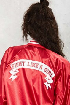 Stay Cute Fight Like a Girl Bomber Jacket - Sale: Newly Added | Sale: 20% Off | Streetwear | Bomber Jackets | Jackets + Coats | Jackets + Coats | Bombers | 30% Off New Styles | Clothes | Jackets + Coats