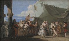 Giandomenico Tiepolo (Venise, 1727-1804), Il mondo novo, vers 1765. Huile sur toile, Paris, musée des Arts décoratifs, inv. 11305 © Les Arts décoratifs, Paris/Jean Tholance