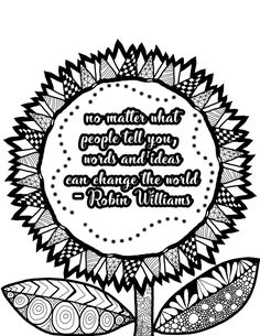 Adult Coloring Book Printable Pages Inspirational Quotes Sheets Self Care