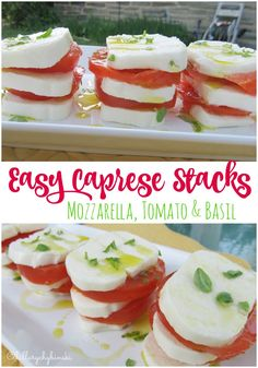 Quick and Easy Recipe: Caprese Stacks - make the most of those fresh summer tomatoes with this easy and pretty recipe.