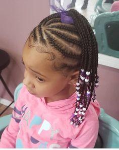 22 Beautiful Kids Hairstyles - The Glossychic Cornrows For Girls, Braids For Kids, Children Braids, Braids Cornrows, Girls Braids, Black Little Girl Hairstyles, Baby Girl Hairstyles, Children Hairstyles, Natural Hairstyles For Kids