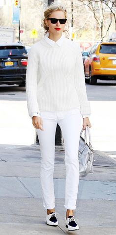Look of the Day - April 17, 2014 - Karolina Kurkova from #InStyle