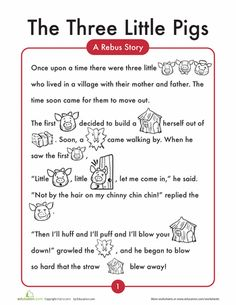 Worksheets: The 3 Little Pigs