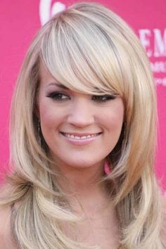 Layered Haircuts For Round Faces | Long layered hairstyles with bangs for round faces pictures 3