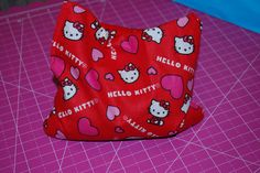 Hello Kitty Boo-Boo Bag or Ouch Bag filled with Flax-seed.  Great Party Favor idea.