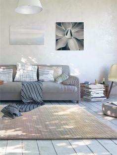 Glänzender Streifen Teppich: Benuta Teppich Moire Viscose #benuta #teppich # Modern #