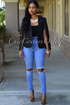 Chic Couture Online - Dolce Black Luxe Cape Jacket, $70.00 (http://www.chiccoutureonline.com/dolce-black-luxe-cape-jacket/)