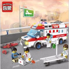 Enlighten model Building Block kit Ambulance Nurse Doctor First Aid Bricks Toys educate compatiable with lego city kid gift set Model Building Kits, Building Blocks Toys, Gifted Kids, Classic Toys, Lego City, Diy Toys, Toy Store, Toys For Boys, Construction