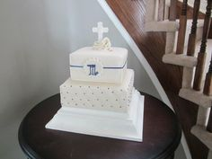 My son's First Communion cake made by Sweeties Cakes (Ottawa)