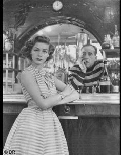 Lauren Bacall & Humphrey Bogart in Dior Magazine - 1954