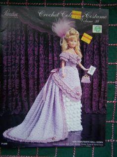 Vol 38.....1876 Debutante Ball Gown                   Vol 38 Paradise Crochet Pattern