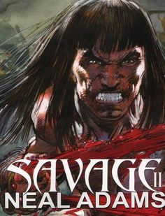 Signed Neal Adams Comic Art Sketch Book Savage II Conan Tarzan Sinbad Red Sonja   eBay