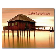 Shop Lake Constance near Bregenz in Vorarlberg Postcard created by stdjura. Gazebo, Outdoor Structures, Cabin, House Styles, Austria, Switzerland, Spaces, Bregenz, Kiosk