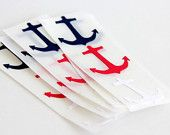 Anchor Stickers Sailing Navy Red Blue and White Nautical Stickers (15)