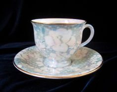 Royal Winton Brocade Green Tea Cup & Saucer - Irridescent - England #RoyalWinton