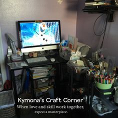 Kymona Tracey's craft space