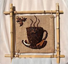 DIY 3D Coffee Cup Picture Decor with Coffee Beans   iCreativeIdeas.com LIKE Us on Facebook ==> https://www.facebook.com/icreativeideas