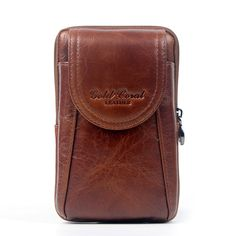 Sale 23% (24.89$) - Men Genuine Leather Waist Bag Business Crossbody Bag Cellphone Bag