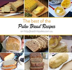 Looking for a primal or paleo bread substitute? I& collated a list of the best breads, paleo wraps, paleo rolls and paleo tortillas going around. Best Paleo Bread Recipe, Bread Recipes, Low Carb Recipes, Whole Food Recipes, Cooking Recipes, Grain Free Bread, Bread Substitute, Paleo Baking, Paleo Food