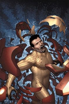 Iron Man (Anthony Stark) - Marvel Universe Wiki: The definitive online source for Marvel super hero bios. Young Avengers, The Avengers, Comic Books Art, Comic Art, Book Art, Marvel Gif, Marvel Animation, Captain American, Iron Man Armor