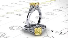 Just one of our many custom designed and made engagement rings!