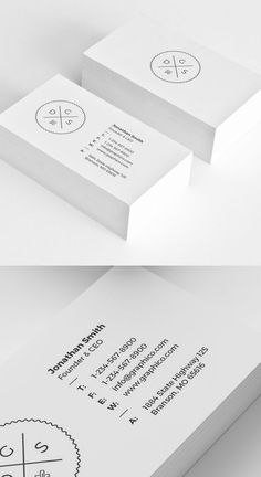 Slick letterpress white minimalist design business card for a simple corporate business card colourmoves