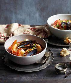 Australian Gourmet Traveller recipe for Zuppa di pesce alla Romana, from 1889 Enoteca