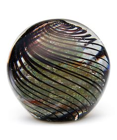 This Amber Swirl Glass Paperweight by Dynasty Gallery is perfect! #zulilyfinds #deskdecor #dynastygallery #coloredglass #glasspaperweight