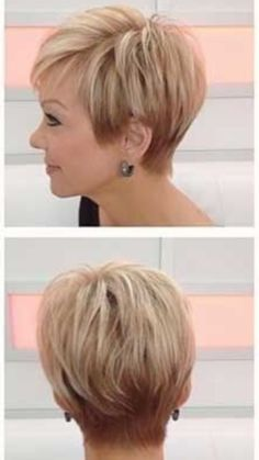 Hintere Ansicht von Victoria Beckham Bob Hairstyle Rear view of Victoria Beckham Bob Hairstyle. # WomenHairstylesMediumIndian # hair cuts for women Short Grey Hair, Short Hair With Layers, Short Hair Cuts For Women, Girl Short Hair, Short Hair Styles, Hair Styles Older Women, Short Cuts, Mom Hairstyles, Girl Haircuts