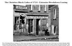 christat black code 1724 | Christian Black Codes of 1724