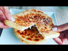 Placinte umplute cu branza la tigaie | Reteta super delicioasa - YouTube Yogurt, Deserts, Tube, Food And Drink, Make It Yourself, Baking, Ethnic Recipes, Sweets, Essen