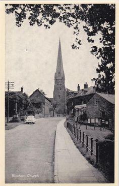 PC BLOXHAM CHURCH & STREET SCENE BANBURY OXFORDSHIRE c1950 | eBay