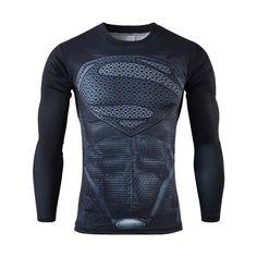 Moto mới nhất dài tay áo compression áo sơ mi nam của marvel captain  america ironman sipderman superman tights t áo sơ mi 465c245f3a807