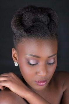 Natural Hair Wedding, Natural Hair Updo, African Natural Hairstyles, African Braids Hairstyles, Natural Wedding Hairstyles, Elegant Hairstyles, Work Hairstyles, Bride Hairstyles, Black Hair Afro