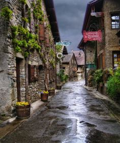 Old Alley of Yvoire, France - and places like this is what I want to see in France